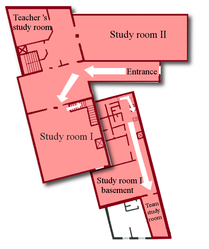 How to get to the study room